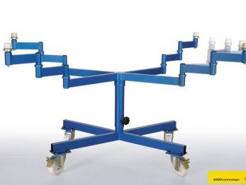 Spritztisch drehbar und mobil für schnelles und rationelles lackieren.. Das wichtige Zubehör für den Lackierraum oder die Lackierkabine.
